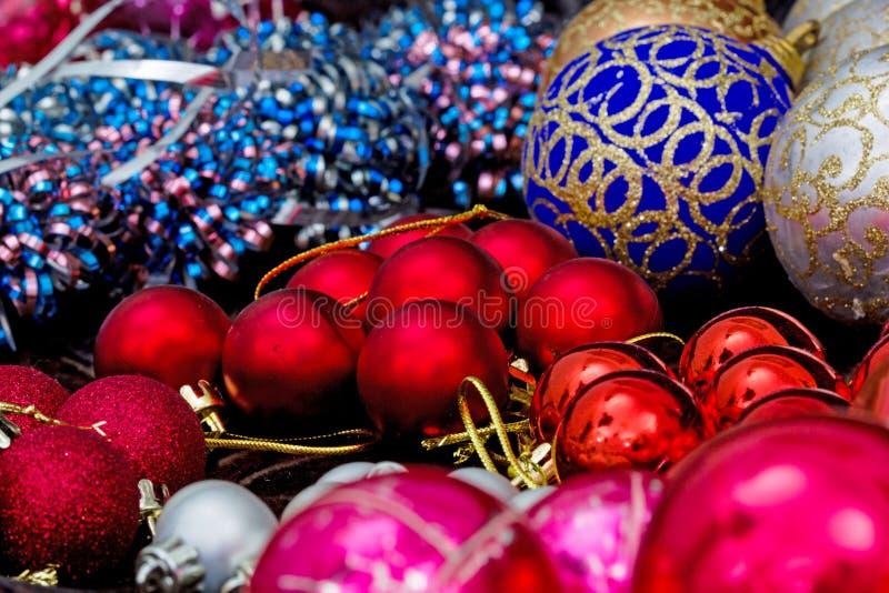 Christmas tree decorations, preparing to decorating a Christmas. Tree royalty free stock photos