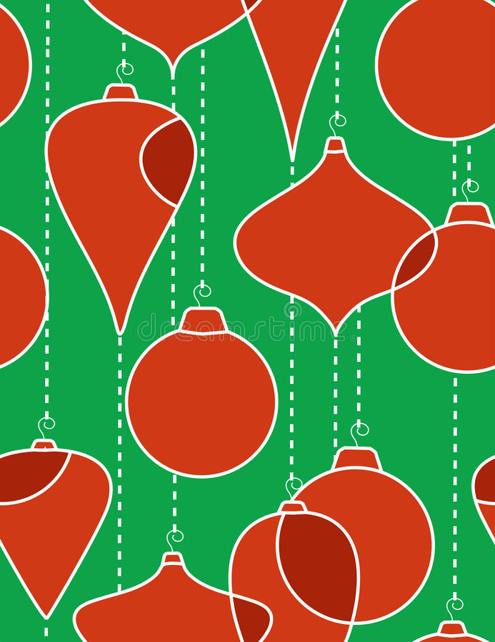 Christmas-tree decorations- seamless pattern royalty free illustration