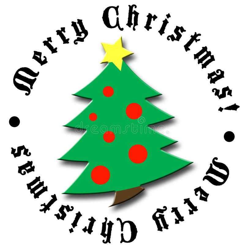 Christmas tree design 2 royalty free stock photo