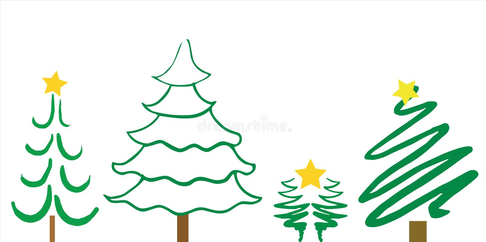 Christmas Tree Designs stock photos