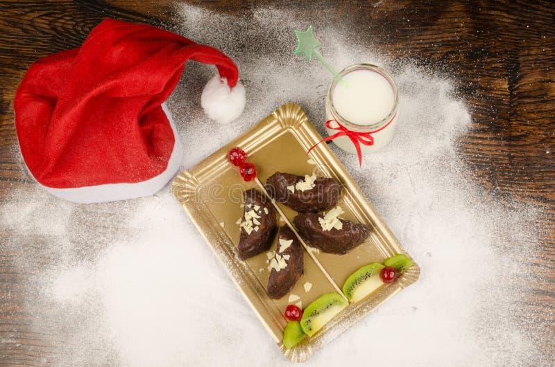 Christmas tree dessert royalty free stock images