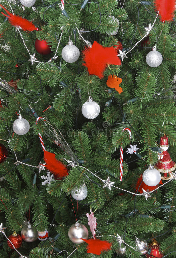 Download Christmas tree detail stock photo. Image of candy, ornaments - 6794714