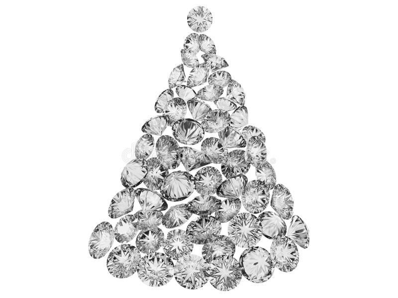 Christmas Tree From Diamonds Royalty Free Stock Photo