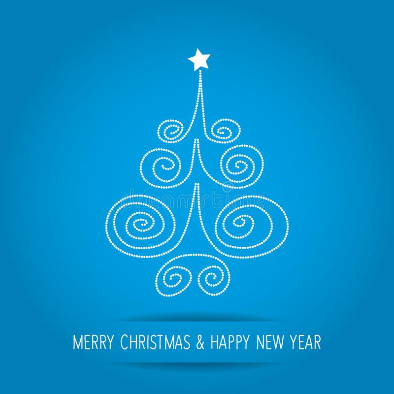 Christmas Tree dots on a blue background. Christmas Tree dots on a blue background vector illustration