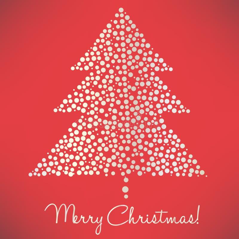 Christmas tree of dots elegant vector illustration