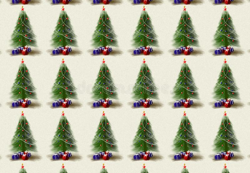 Christmas tree drawing textured pattern. Christmas tree drawing textured pattern background royalty free stock images