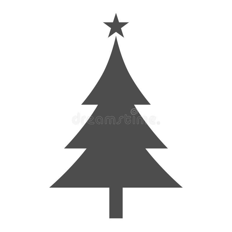Christmas tree flat icon stock illustration
