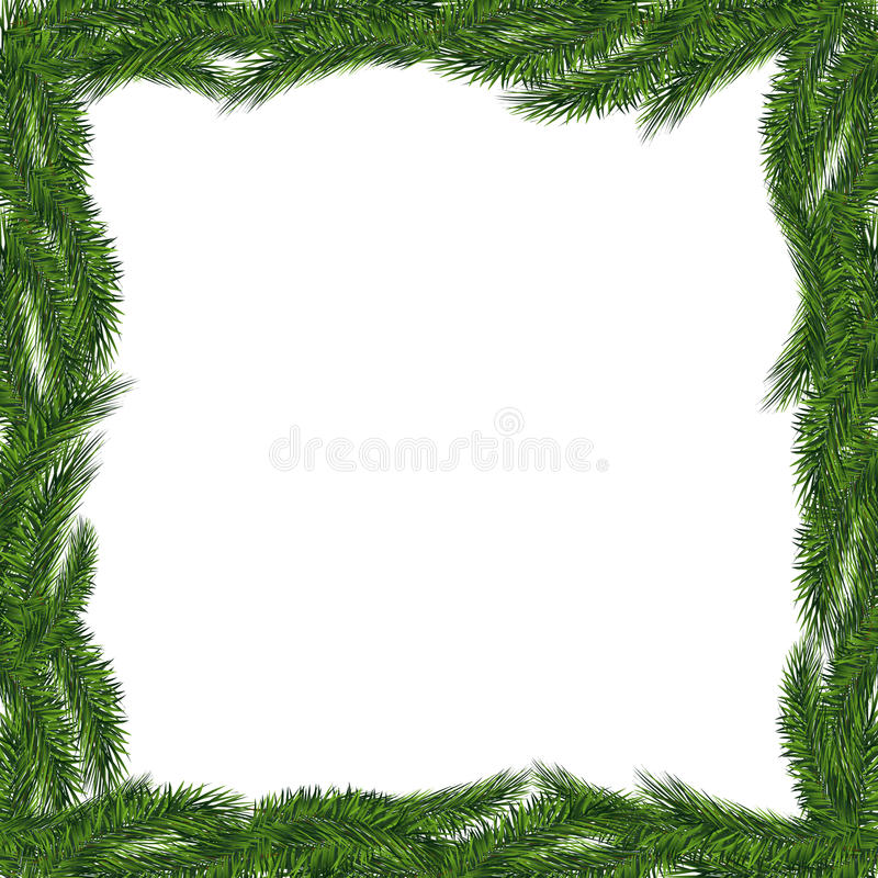 Christmas tree frame isolated. royalty free illustration