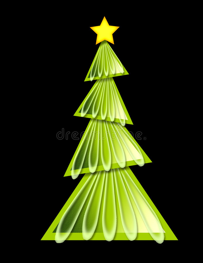 Christmas Tree - geometric royalty free stock photography