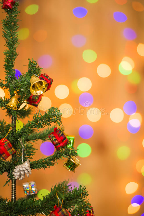 Christmas tree and gift boxes,on light background stock images