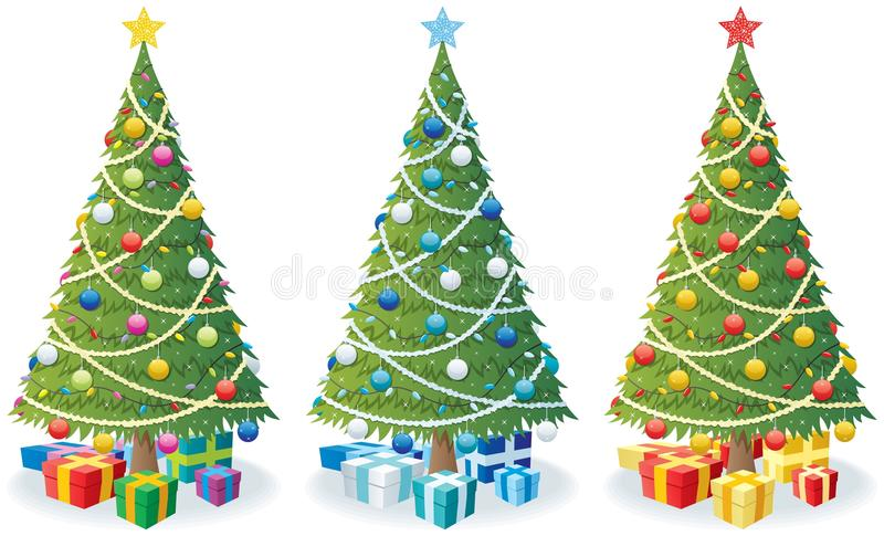 Christmas Tree and Gifts vector illustration