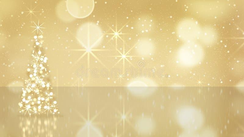 Christmas tree from gold stars vector illustration
