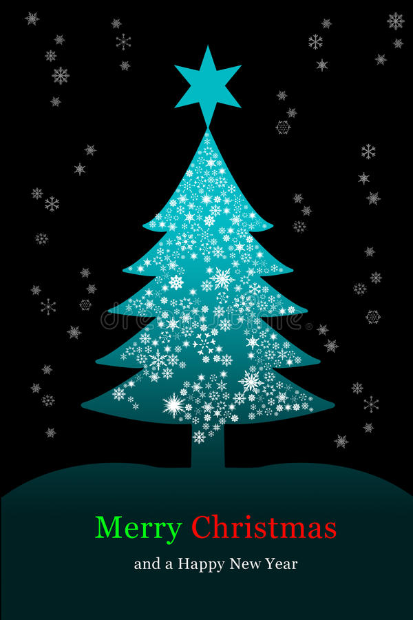 Download Christmas Tree, Greeting Card Stock Illustration - Illustration of celebrate, christmas: 16792016
