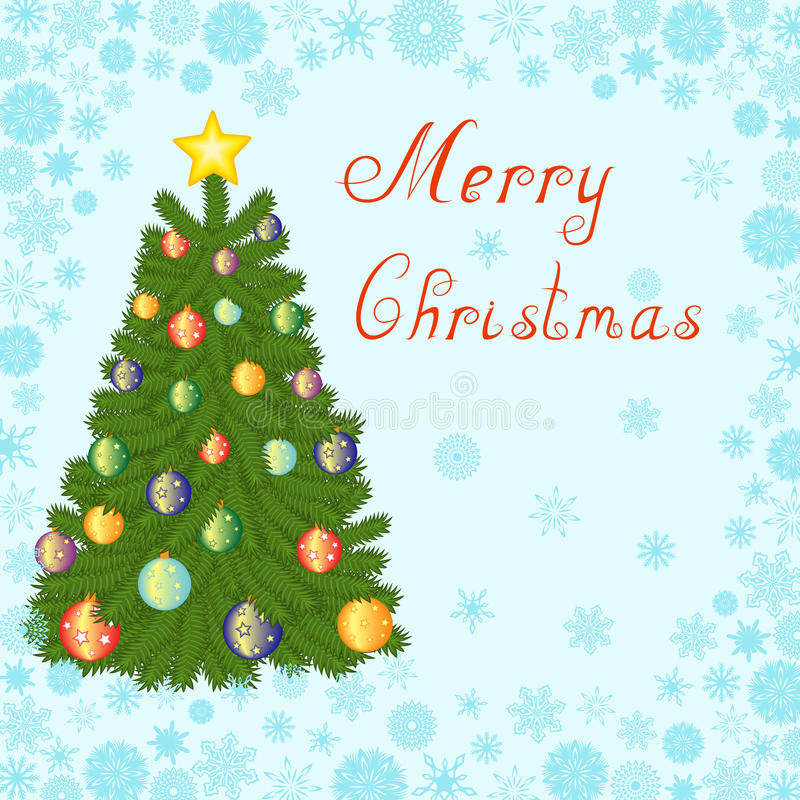 Download Christmas Tree Greeting Card Stock Vector - Image: 34606909