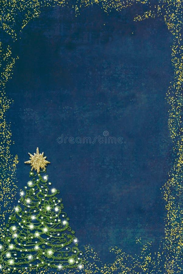 Christmas tree greeting card. stock photo