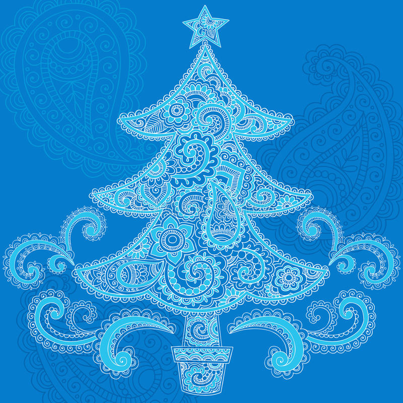 Download Christmas Tree Henna Paisley Doodle Design Royalty Free Stock Photography - Image: 22252967