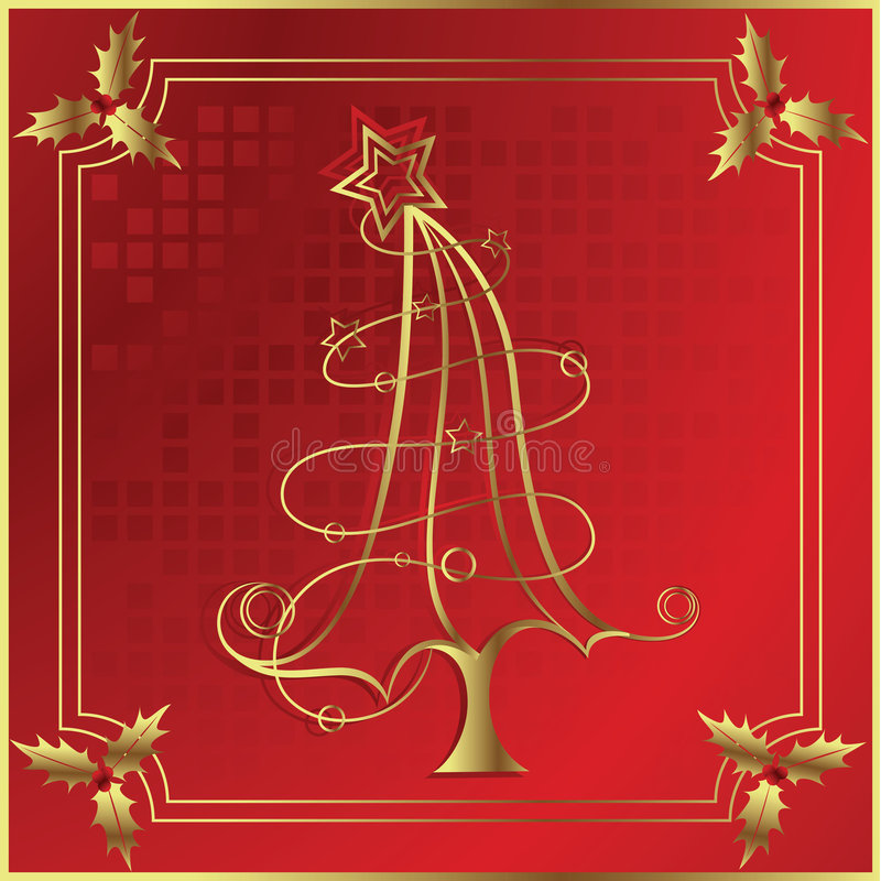 Download Christmas Tree And Holly Royalty Free Stock Images - Image: 6266389