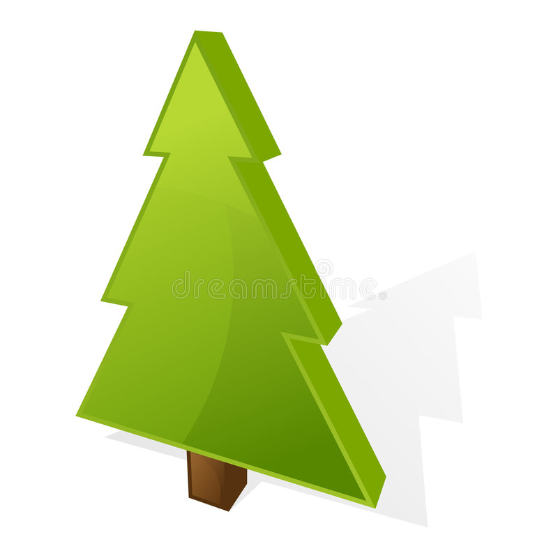 Christmas Tree icon stock photography