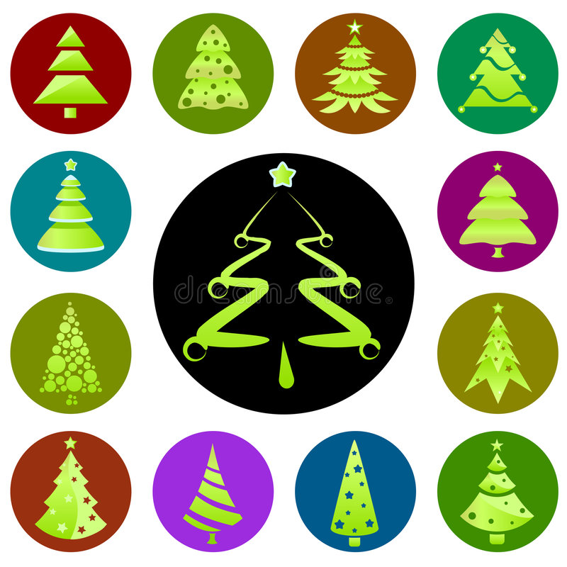 Christmas tree icon royalty free illustration