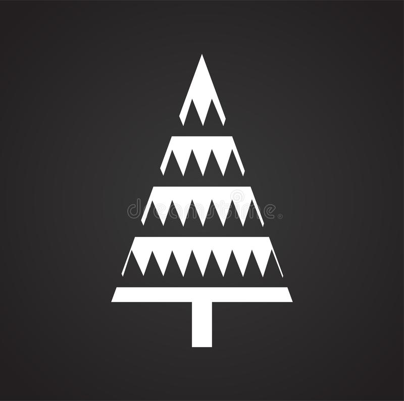Christmas tree icon on background for graphic and web design. Simple illustration. Internet concept symbol for website. Button or mobile app royalty free illustration