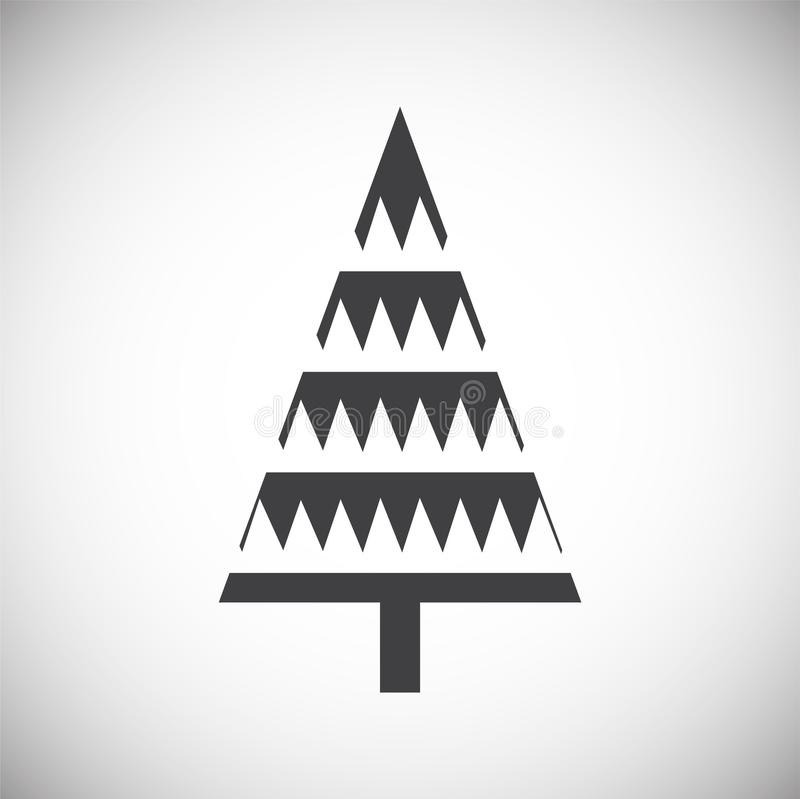 Christmas tree icon on background for graphic and web design. Simple illustration. Internet concept symbol for website. Button or mobile app stock illustration