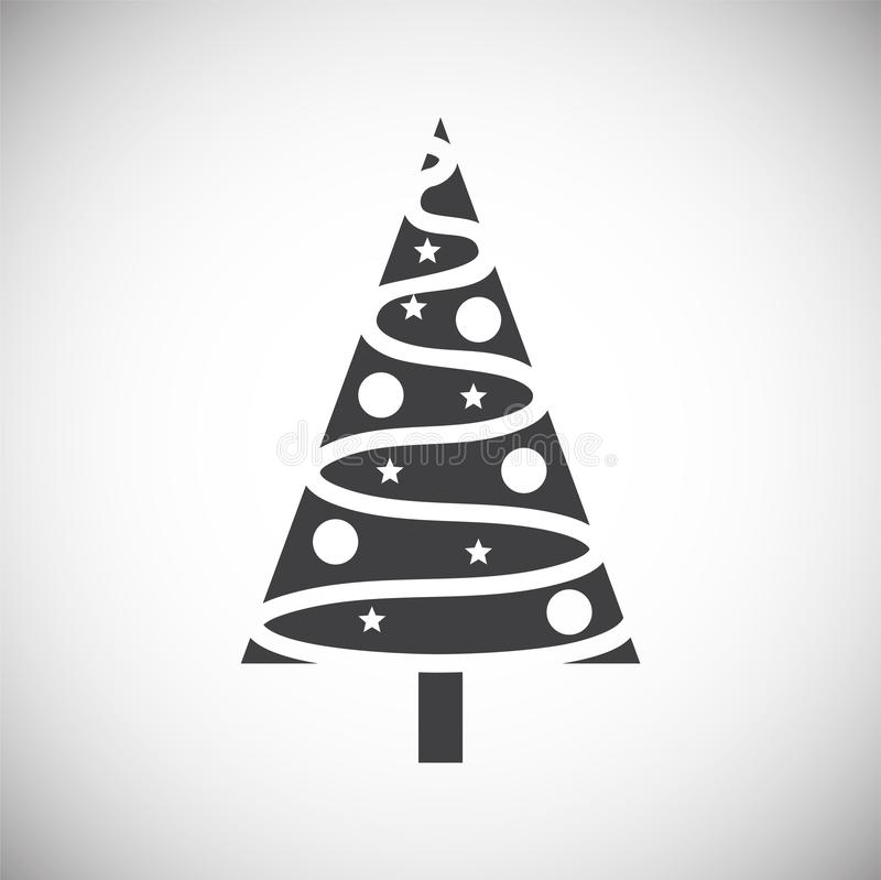 Christmas tree icon on background for graphic and web design. Simple illustration. Internet concept symbol for website. Button or mobile app vector illustration