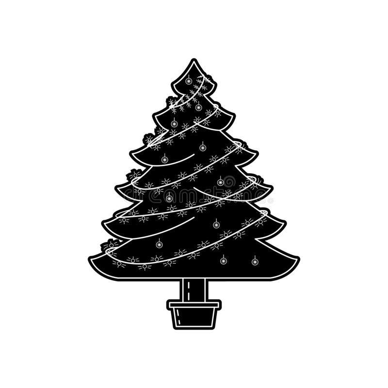 Flat Christmas Tree Icon For Web And Mobile Stock Vector ...