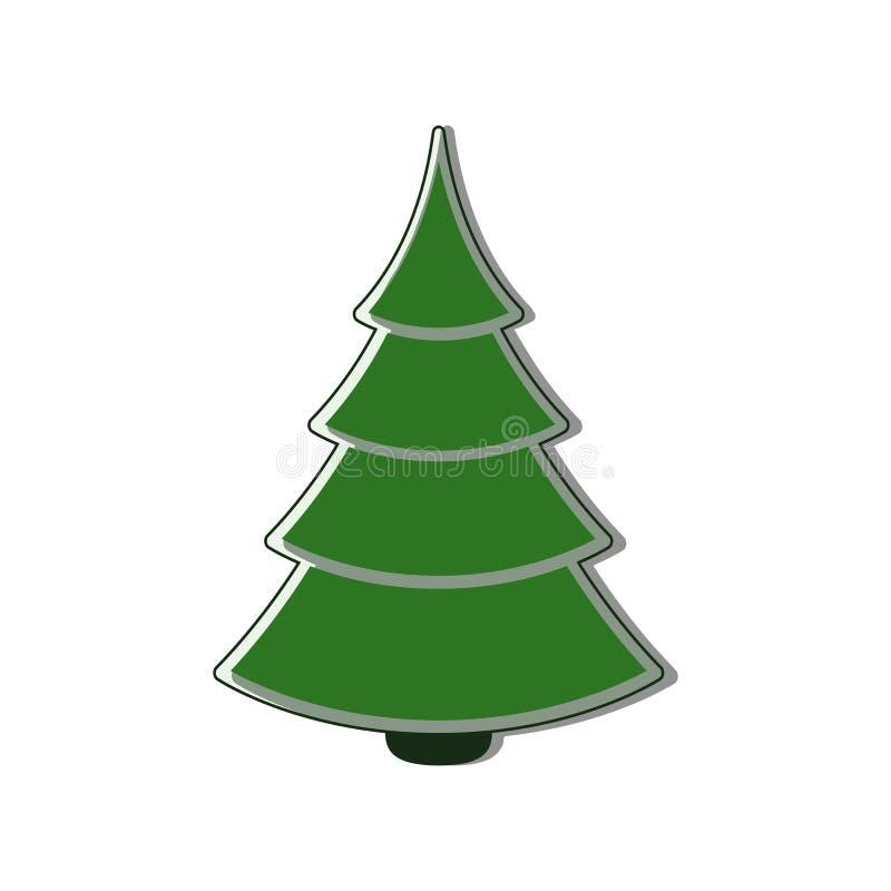 Christmas tree Icon flat stock photo