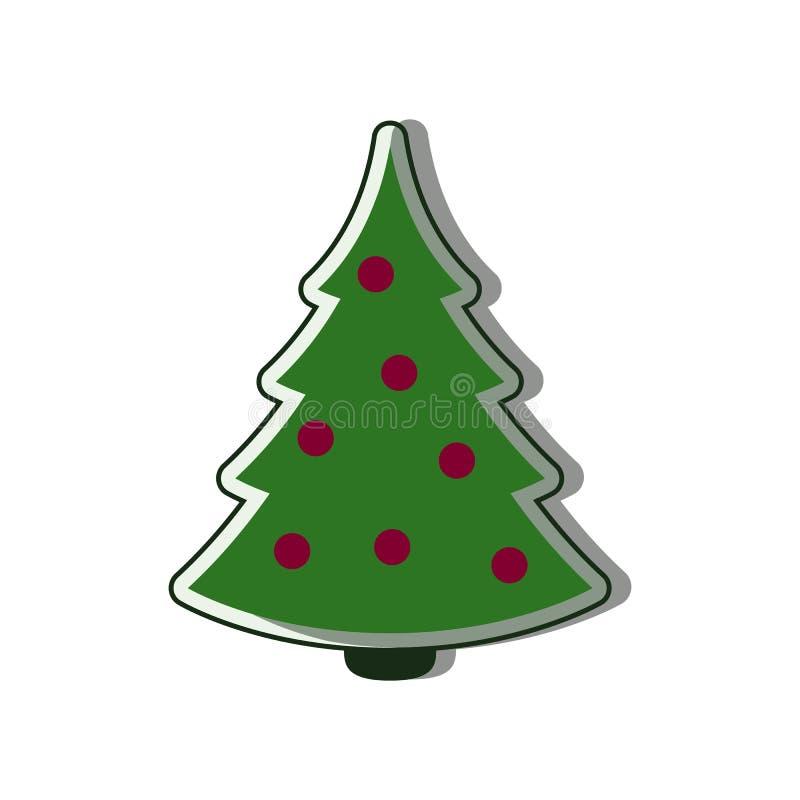 Christmas tree Icon flat vector stock photo