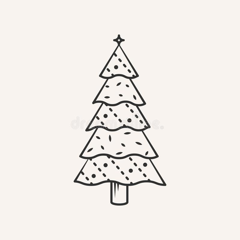 Christmas tree icon. stock photo