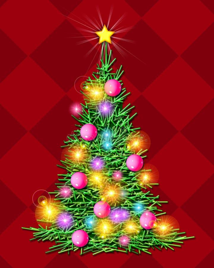 Christmas Tree - Illuminated stock images