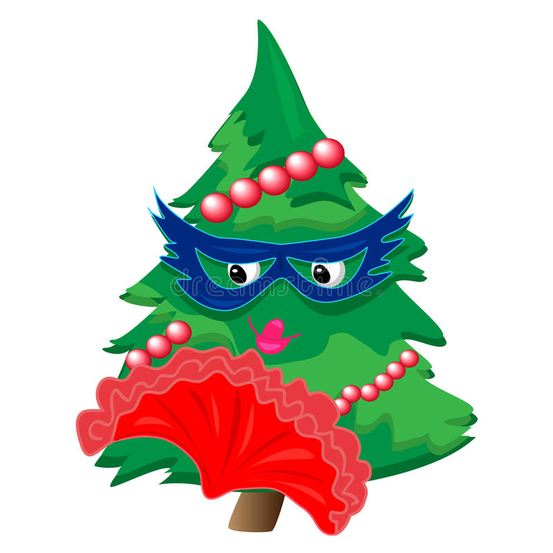 Download Christmas Tree Illustration.isolated Character Royalty Free Stock Image - Image: 22067146