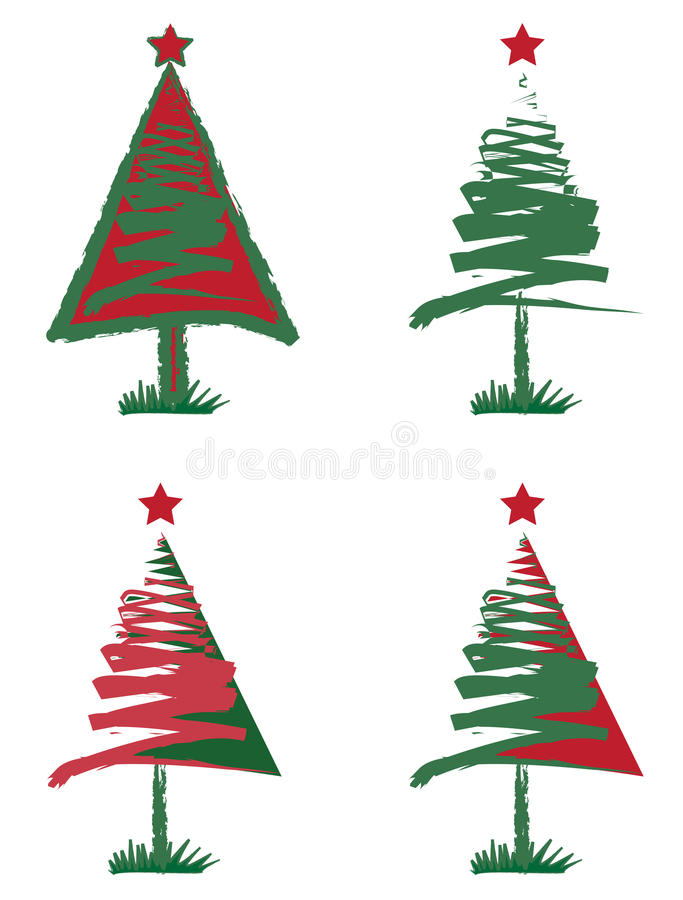 Download Christmas tree stock vector. Illustration of white, decorative - 31356807