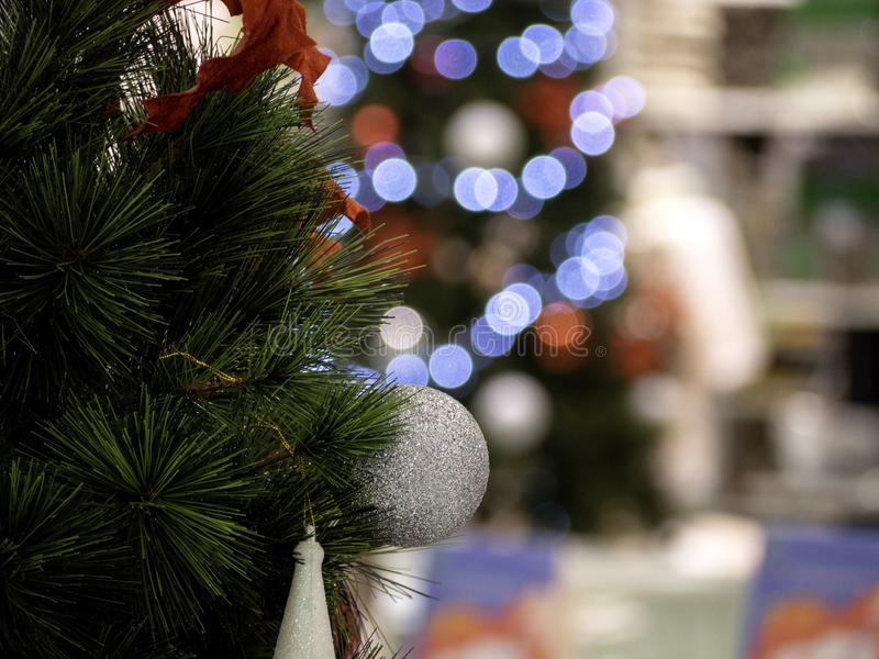Christmas tree in interior royalty free stock images