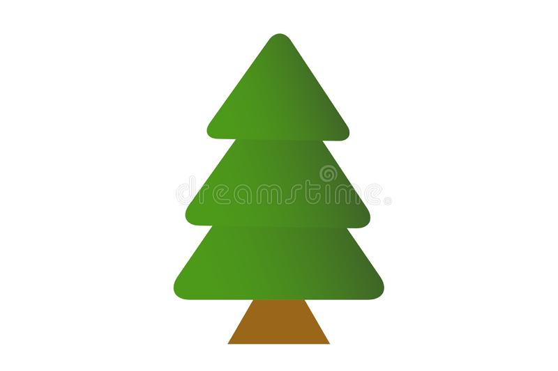 Christmas tree isolated on white background. Winters concept stock photos