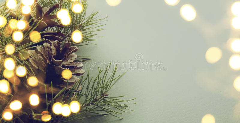 Christmas tree light royalty free stock photography