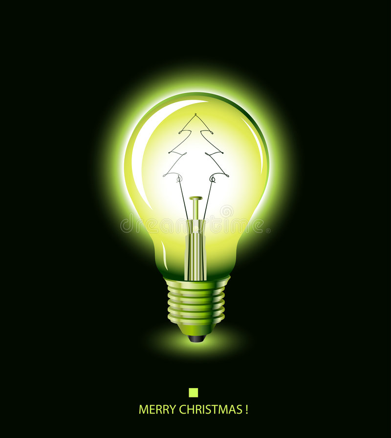Free Christmas Tree Light Bulb - Green Stock Images - 7198244