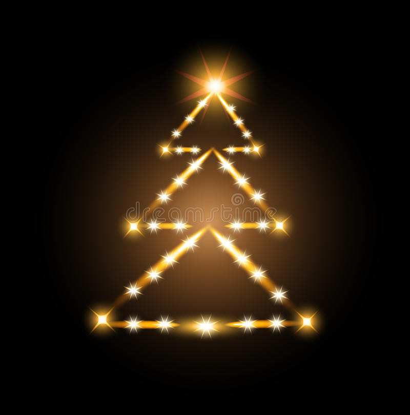 Christmas Tree Light Glow Stock Image