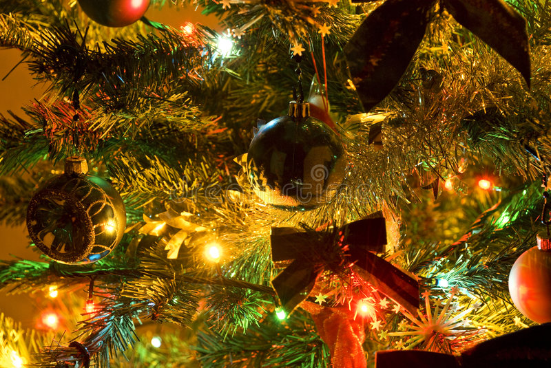 Download Christmas Tree With Lights Royalty Free Stock Image - Image: 7112756
