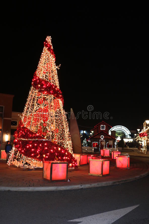 download christmas tree lights and decorations at dix30 shopping mall brossard editorial photo image - Red Christmas Tree Lights