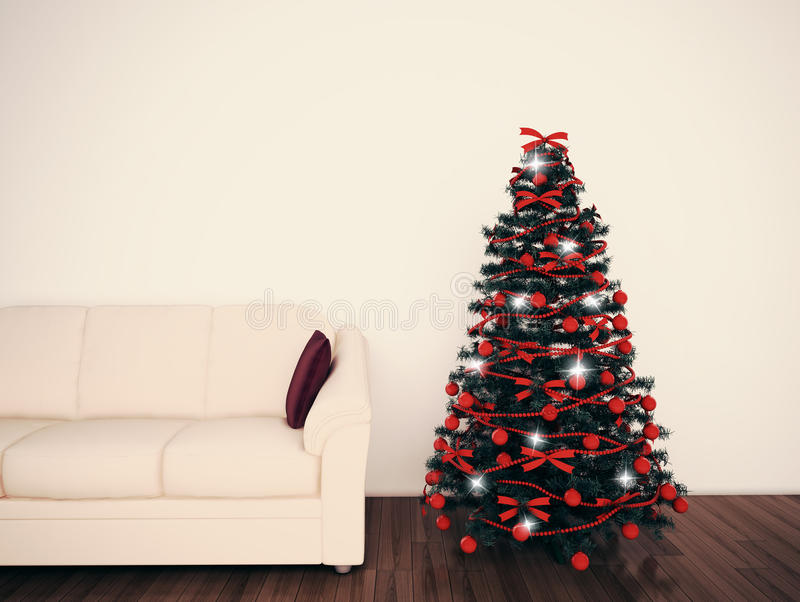 Christmas Tree In Living Room Fascinating Christmas Tree In Living Room Stock Photos  Image 28074383 Decorating Inspiration