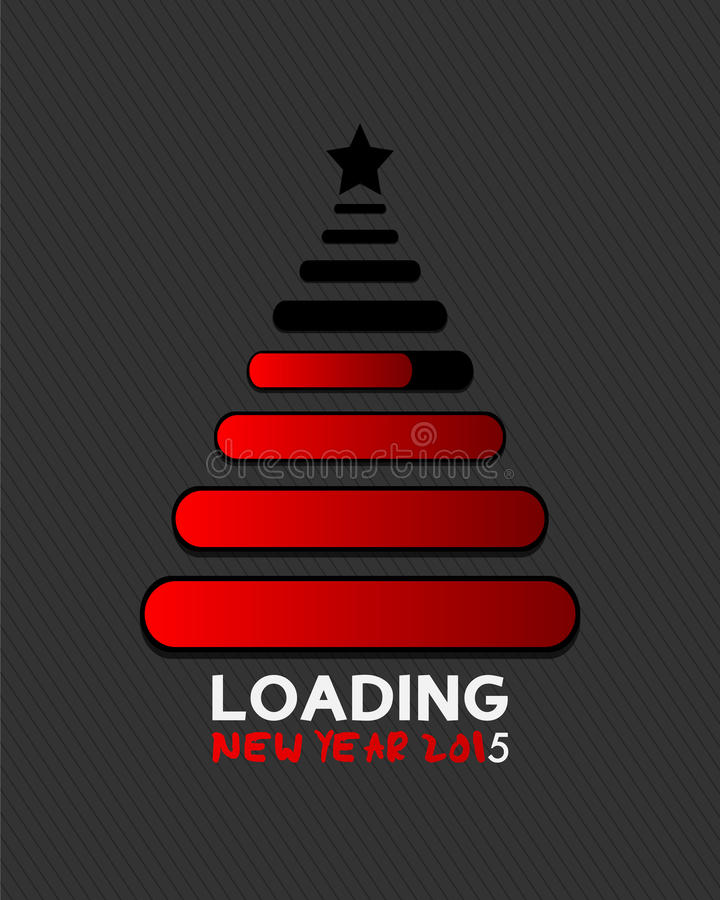 2015 christmas tree loading bar. Abstract background stock illustration