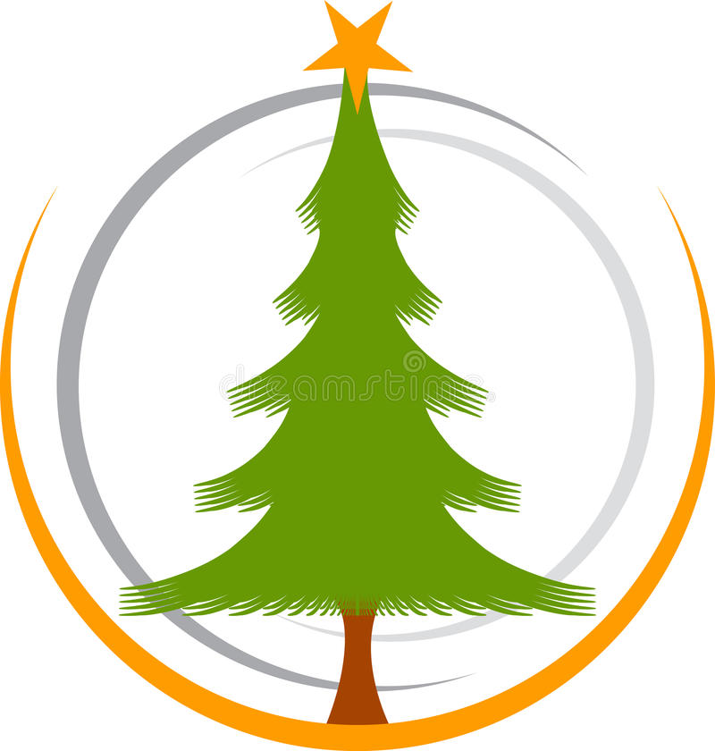 christmas tree logo royalty free stock images image