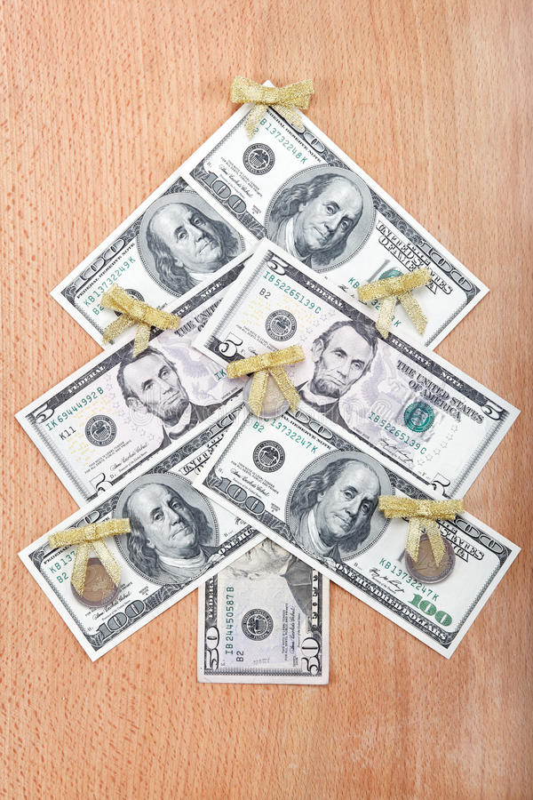 Download Christmas Tree Made ​​out Of American Dollars. Stock Photo - Image: 27808918