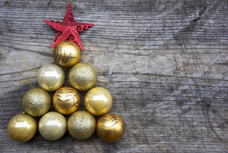 Christmas tree made of decoration royalty free stock photography