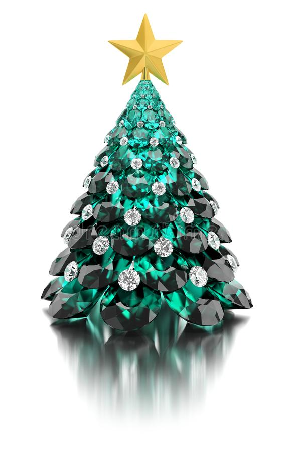 Christmas gem tree royalty free illustration
