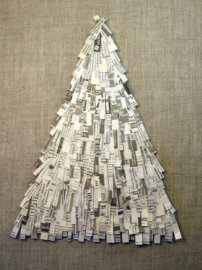 Christmas Tree Made Feom Newspaper Royalty Free Stock Photo ...