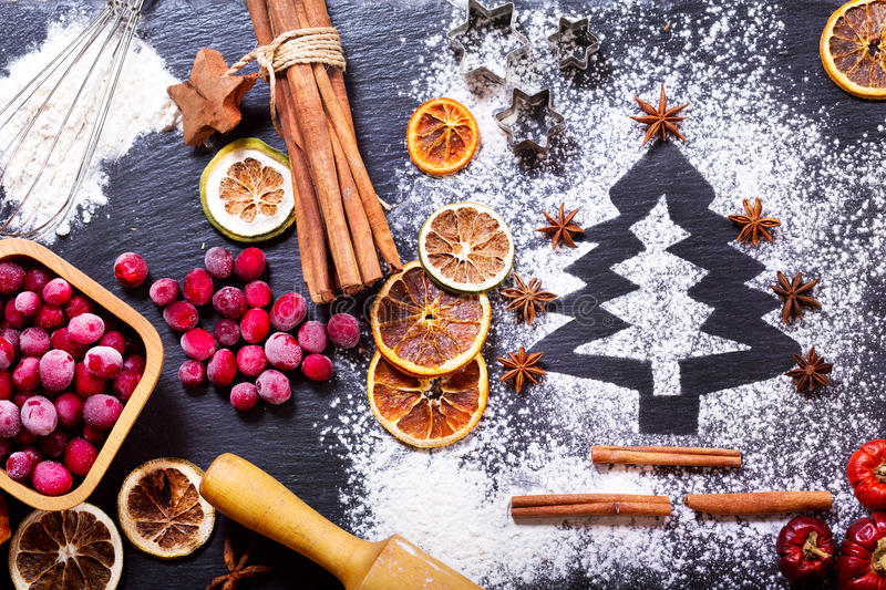 Download Christmas Tree Made From Flour Stock Photo - Image of concept, frozen: 76600522