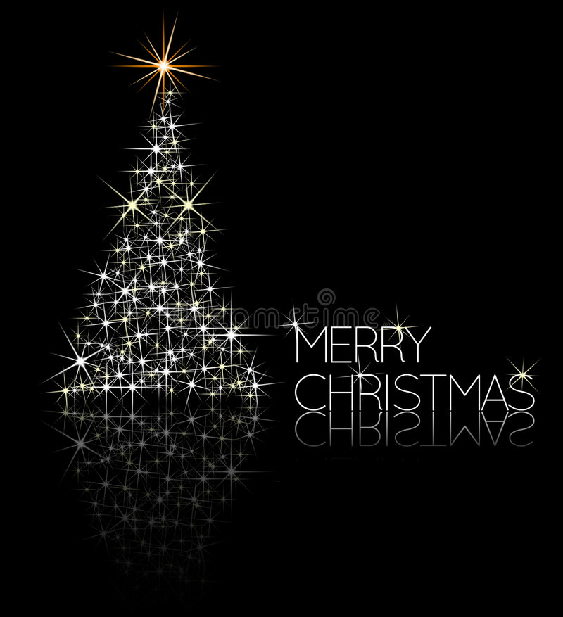 Christmas Tree Made From Sparkles Royalty Free Stock Photos