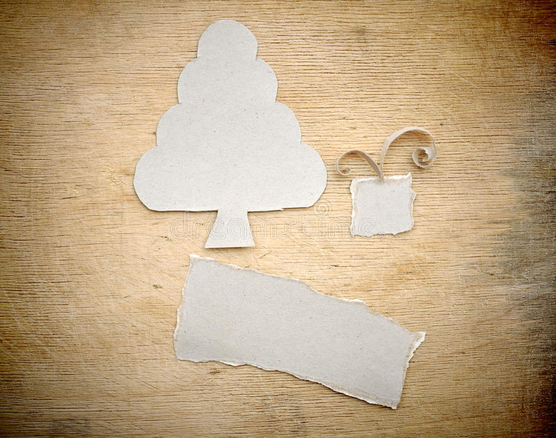 Download Christmas Tree Made Of Torn Paper Stock Photo - Image: 22061030